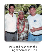 Mike and Alan and King of Samoa